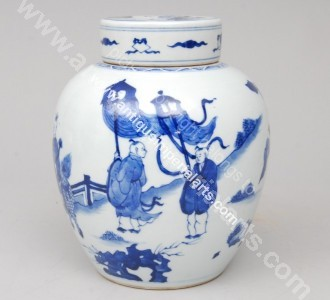 Antique Imperial Arts Antique Chinese Kangxi Vase