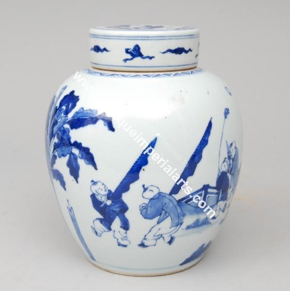 Antique Imperial Arts Antique Chinese Kangxi Vase