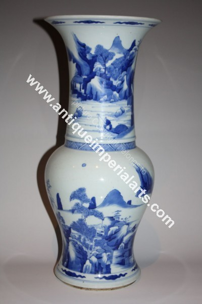 Antique Imperial Arts Antique Chinese Blue And White Vase