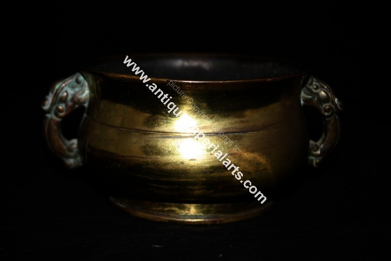 Antique Imperial Arts Antique Chinese Bronze Censer